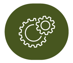 icon of gears representing services we offer